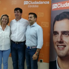 """Juan Marín: """"Los cordobeses están entendiendo que Ciudadanos es útil para solucionar sus problemas"""""""