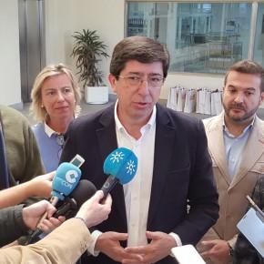 """Juan Marín: """"Hoy Andalucía ya no es la comunidad donde más impuestos se pagan gracias a Ciudadanos"""""""