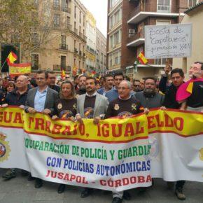 Ciudadanos se suma en Córdoba a la manifestación por la equiparación salarial de las Fuerzas y Cuerpos de Seguridad del Estado