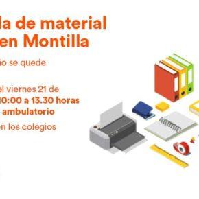 Ciudadanos organiza una carpa solidaria en Montilla para recoger material escolar